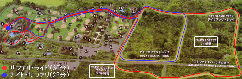 elephant safari map
