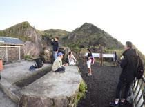 バトゥール山 山頂の様子