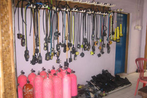 Safe diving equipment