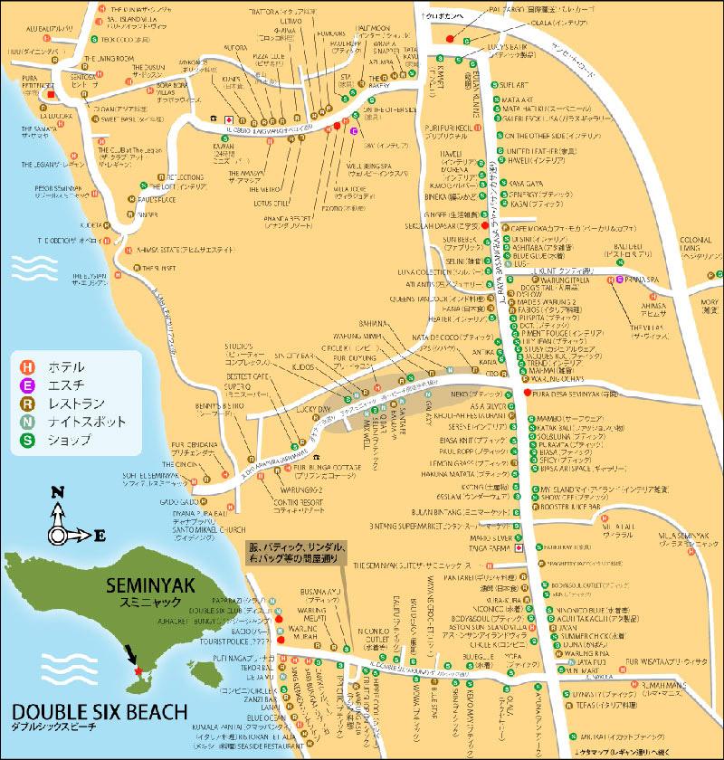 PT HIROChan Seminyak Bali MAP