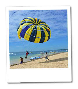 walking in the sky with parasailing