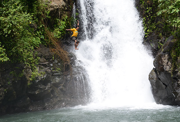 Water fall jump