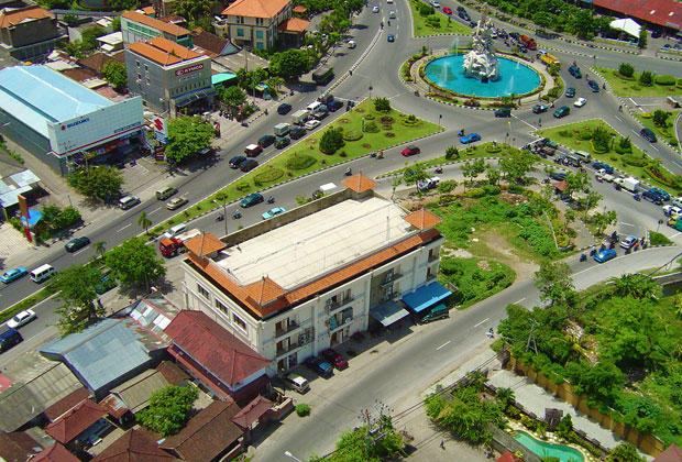 Simpang Siur from the air
