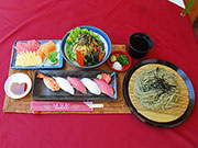 Sushi & Cha soba set