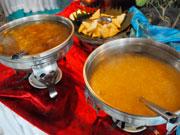 コーンスープと野菜スープ