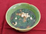 チキンと菜っ葉スープ