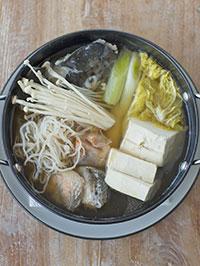 サーモン鍋