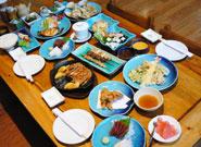 新鮮魚介を使った料理の数々