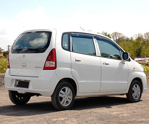 丸みを帯びた車体が特徴の小型車