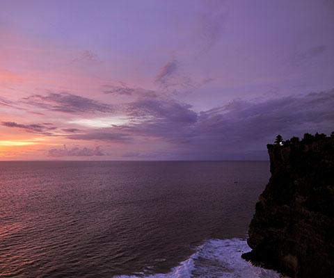 夕日が美しいと評判の寺院