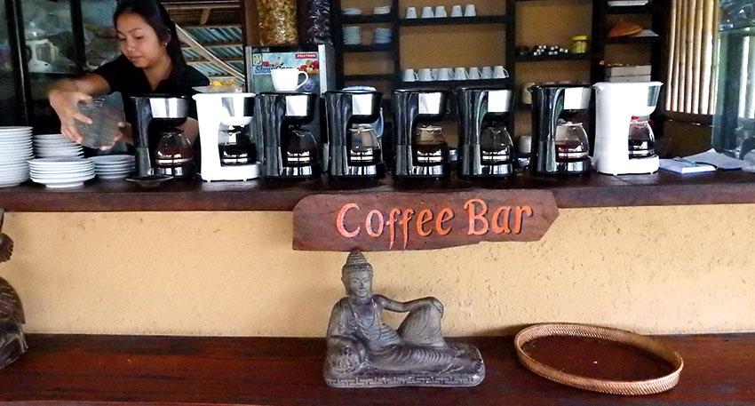 コーヒーの試飲を楽しめます