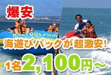バリ島 観光クレイジー特価 ヌサドゥア de マリンスポーツパック(バリ ドルフィン社)