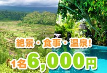 観光 ツアー ウブドと絶景ランチと温泉+中華12品贅沢ツアー