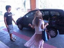 ホテル出発