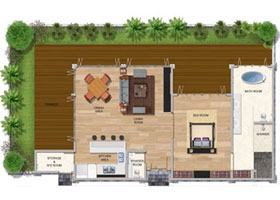 One Bedroom Premium Garden Villa