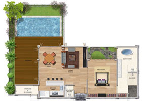 One Bedroom Premium Pool Villa (Corner)