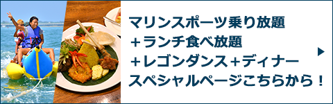 マリンスポーツ乗り放題+ランチ食べ放題+レゴンダンス+ディナースペシャルページバナー