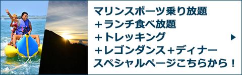 マリンスポーツ乗り放題+ランチ食べ放題+トレッキング+レゴンダンス+ディナースペシャルページバナー