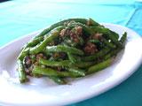 ササゲ豆とミンチの炒め物