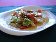 キャベツとトマトの炒め物