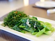 ベビー芥藍(カイラン)の炒め物 & 揚げ物