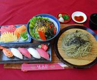 寿司 & 茶蕎麦セット