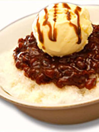 あずき氷 & バニラアイス