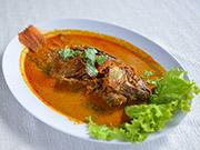魚のカレーソース