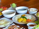 焼き野菜と2種類のスープ