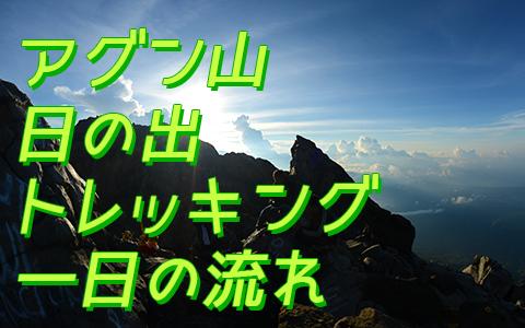 バリ島 厳選アクティビティ アグン山 日の出トレッキング 一日の流れリ