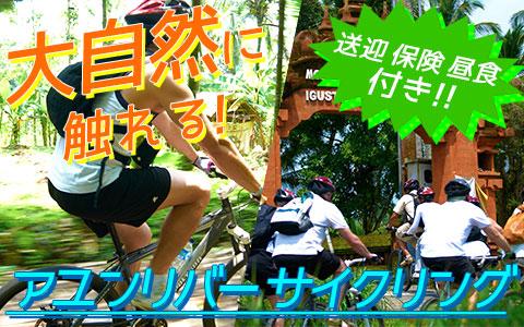 バリ島 厳選アクティビティ アユンリバー サイクリング