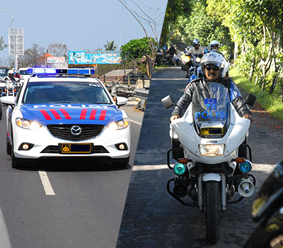 バリ島 厳選カーチャーター 警察エスコートサービスバリ 画像