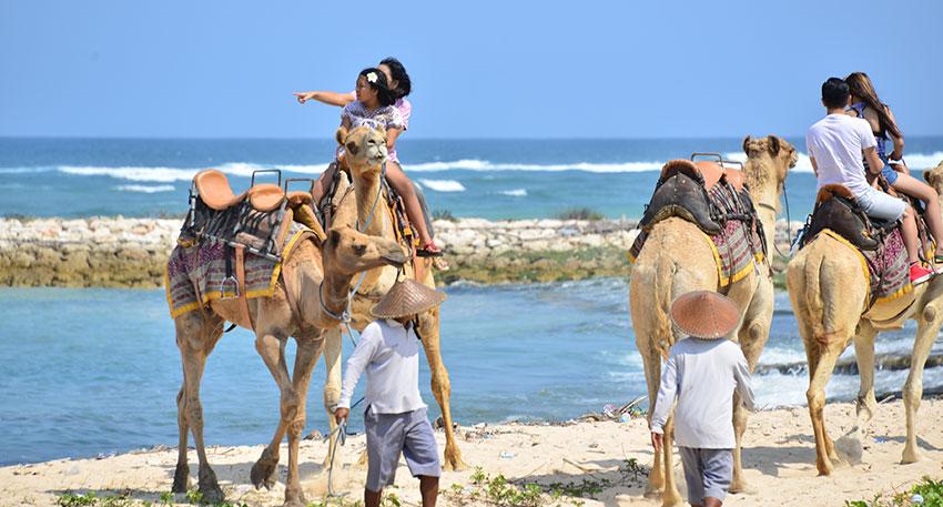 ヌサドゥアのビーチの景色を満喫