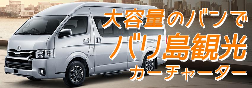 バリ島 厳選カーチャーター トヨタ ハイエース 特徴