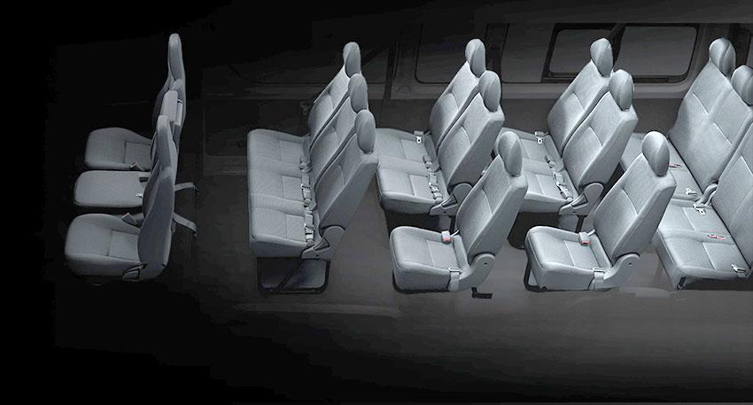 乗る人すべてに快適な移動をご提供するトヨタハイエース