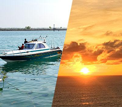 バリ島 厳選ボートチャーター プライベート サンセット クルージング 画像