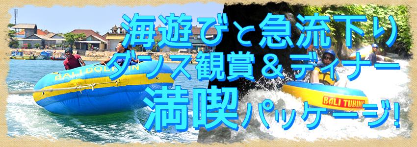 バリ島 厳選マリンスポーツ マリンスポーツ乗り放題+ランチ食べ放題+チュービング+レゴンダンス+ディナー 特徴