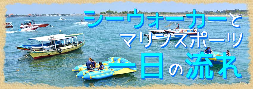 バリ島 厳選マリンスポーツ シーウォーカー・パッケージ7in1 バリ ドルフィン社 一日の流れ