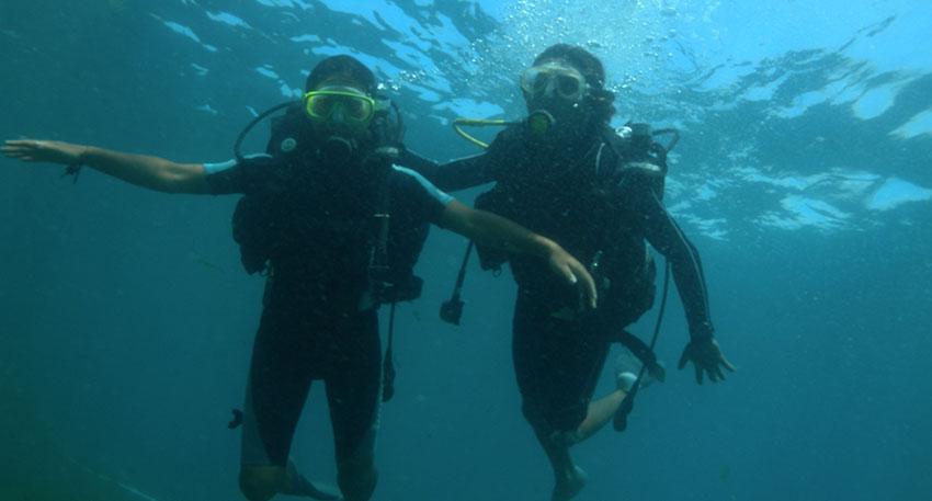 バリドルフィン社 体験ダイビングパック7in1
