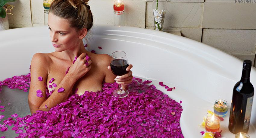 赤ワインを使用した贅沢なトリートメントもあります