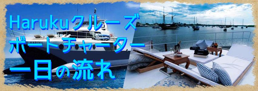 バリ島 厳選ボートチャーター Haruku クルーズ 一日の流れ