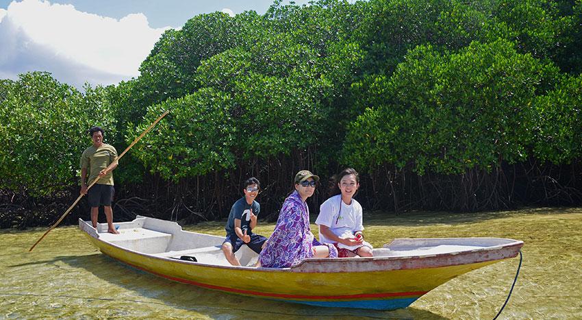 マングローブ林とサンゴ礁とお魚さんがお出迎え「シュノーケリング」ツアー