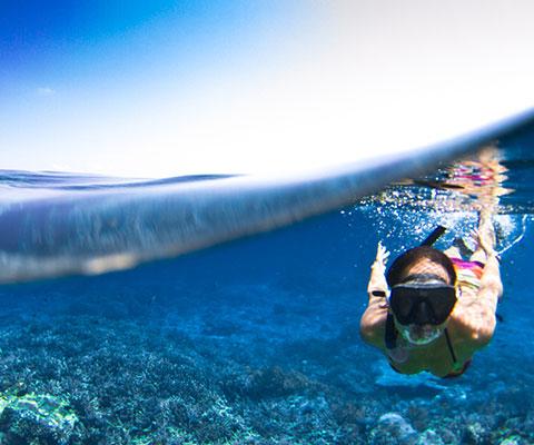 ゆっくりとレンボンガン島の海を満喫