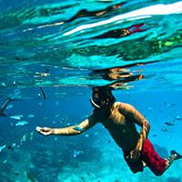 バリ島 透明度の高い美しい海