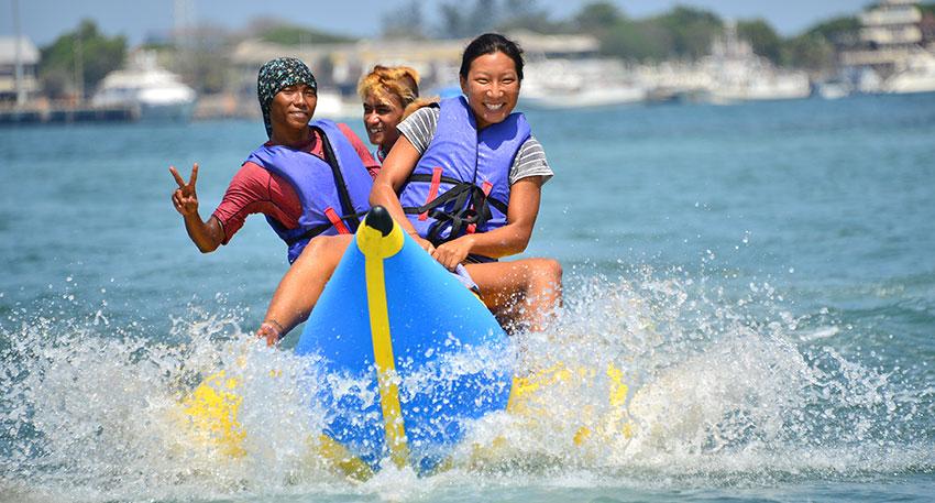 グループで楽しめるバナナボート