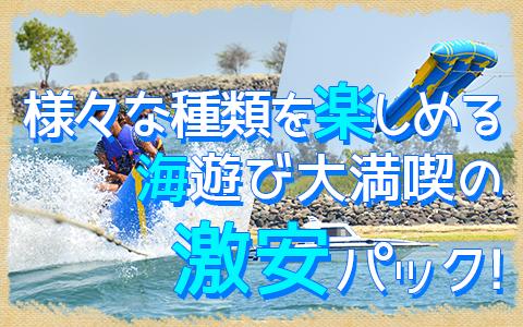 バリ島 厳選マリンスポーツ ヌサドゥア de マリンスポーツパック(バリ ドルフィン社) 特徴