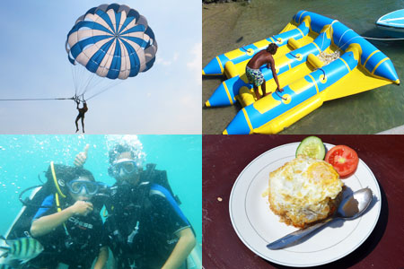 バリ島 厳選マリンスポーツ 体験ダイビングパック 画像
