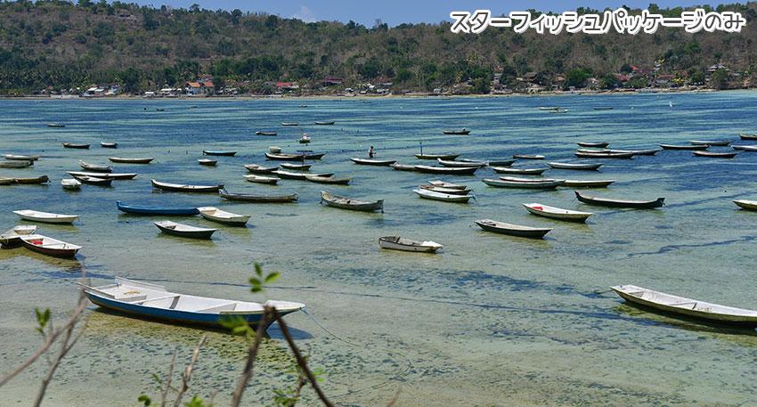 レンボンガン島の素朴な村の景色をお楽しみください