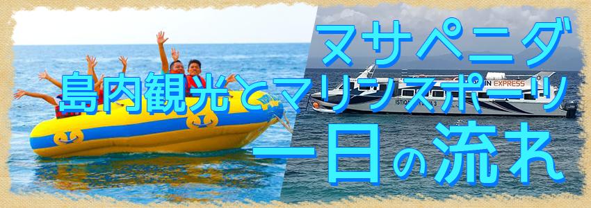 バリ島 厳選レンボンガン島 ヌサペニダアイランドツアー+マリンスポーツ 一日の流れ