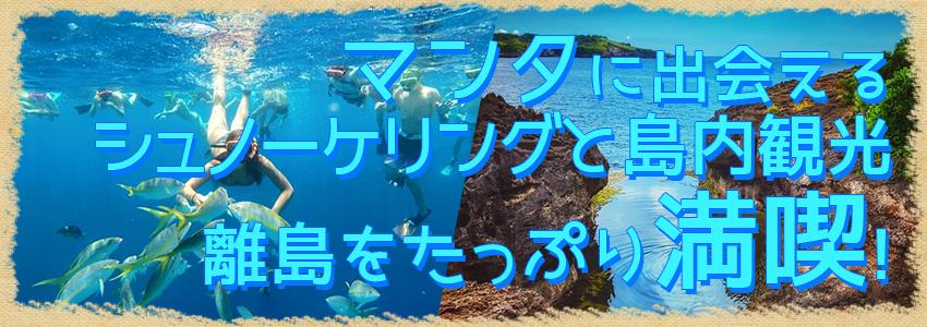 バリ島 厳選レンボンガン島 マンタポイントでシュノーケリングとヌサペニダアイランドツアー 特徴